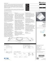 Troffer Light Spacing Metalux Cruze 22cz Led 2 X 2 Specification Grade Troffer