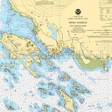 Southeast Alaska Nautical Charts Alaska Sitka Cannon Island Nautical Chart Decor