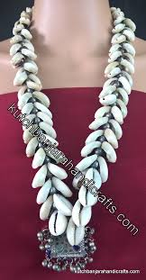 banjara afghani pendant cowrie shell necklace 2 kutch banjara handicrafts