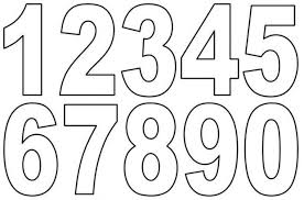 number templates 1 10 templates for numbers infinite portrait 1 10 clipart black and white