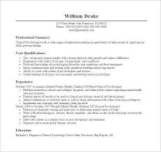 Resume Templates For Doctors 7 Psychologist Doctor Resume Free PDF Template