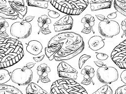 apple pie slice drawing.  Pie Hand Drawn Apples Apples Slices Apple Blossom Pie Throughout Apple Pie Slice Drawing L