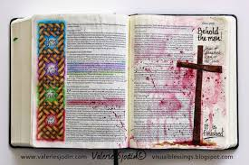 is journaling a word bible art journaling the way of the cross valerie sjodin