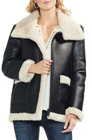 nordstrom vince camuto faux leather shearling coat