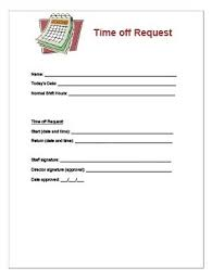 Days Off Request Form Template Free Printable Time Off Request Forms Business Mentor