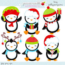 cute penguin christmas clipart. Cute Christmas Penguin Clipart Intended