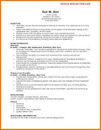 Resume Template Astonishing Resume Template Sample For Cna Gna Job