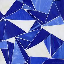 blue white shattered glass mosaic tile