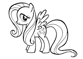 My Little Pony Colouring Sheets Fluttershy My Little