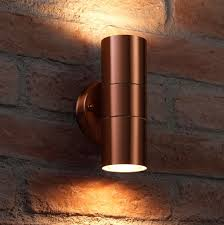 Exterior Garden Wall Lights Auraglow Up Down Outdoor Wall Light Winchester Copper