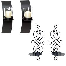 home decor modern art candle holder wall sconce black wire