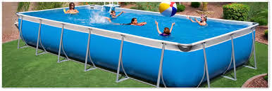 rectangle above ground swimming pool. Rectangle Tuff Pools Above Ground Swimming Pool L