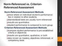 criterion referenced assessment designing outcomes based education assessment tasks
