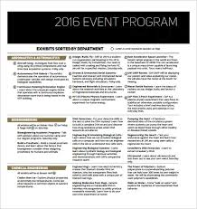 38 Event Program Templates Pdf Doc