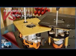 incra mast r lift ii vs triton router