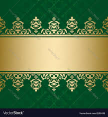 dark green background. Beautiful Green Dark Green Background With Golden Decor Vector Image With Green Background N