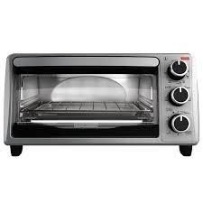 BLACK+DECKER TO1303SB 4-Slice Toaster Oven, Stainless Steel/Black ...