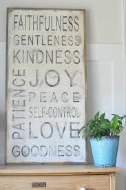 wall art ideas design sign love fruit of the spirit hanging features kindness contemporary selfcontrol decorating