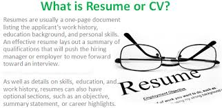 What Is A Cv Resume