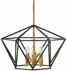 hinkley lighting 3576dz theory aged zinc chandelier undefined