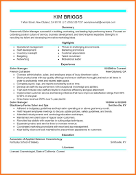 Esthetician Resume Sow Template