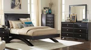 furniture bedroom. belcourt black 5 pc king platform bedroom furniture