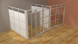 Modern Cubicle Architectual Wall System L Modern Glass Wall Office Cubicle With