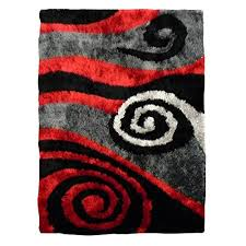 luxury living collection 655 red abstract swirl design area rug 5 x8 free