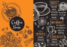 Coffee Restaurant Brochure Vector, Coffee Shop Menu Design. Vector ...