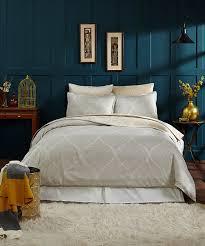 all gone blue gold jacquard cotton duvet cover