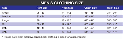 Mens Size Chart Rolling Spokes