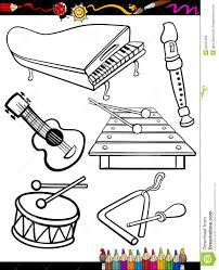 Small Picture Xylophone Musical Instruments Coloring Pages For Kids Printable In