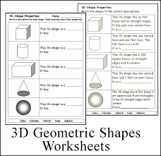 Collections of Math 3d Shapes Worksheet, - Easy Worksheet Ideas