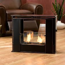 ... Practice Portable Fireplace For Your Activities : Wonderful Portable  Fireplace Black Color Artistic Design Ideas ...