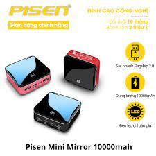 Sạc dự phòng Pisen Mini Mirror 10000mah - Hàng chính hãng