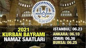 2021 Kurban Bayramı namazı saat kaçta? Diyanet İmsakiye: İstanbul Ankara  İzmir İl İl Bayram namazı saatleri - DİNİ BİLGİLER Haberleri