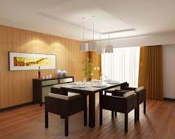 House Modern Japanese Dining Room Sets With Chrome Pendant Light