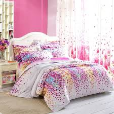 girls white bedding awesome purple white yellow and blue lilac fl print full queen size for