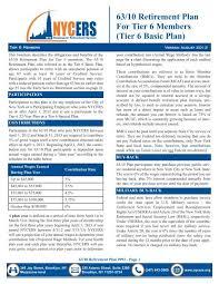 63 10 Retirement Plan For Tier 6 Members Tier 6 Basic