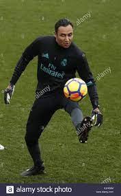 Real Madrid'sCosta Rican goalie Keylor Navas during a team's training Stock  Photo - Alamy