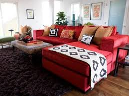 red couch living room red sofa living
