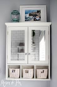 wall cabinet bathroom simple white cabinet with cubbies wall bathroom cabinet with mirror