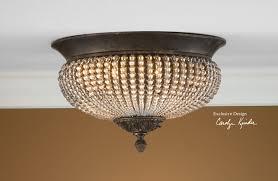 piano room uttermost cristal de lisbon flush mount
