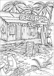 Welcome To Dover Publications Creative Haven Summer Scenes Coloring