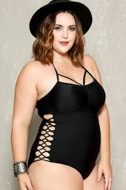 size 18 swimsuit sexy black strappy caged bottoms plus size one piece swimsuit