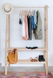Wood DIY Clothing Shelf For Women