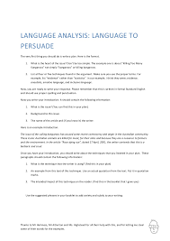 how to write a persuasive analytical essay structure of a language analysis essay slideshare