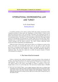 turkey and international environmental law