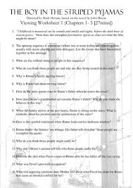 boy in striped pyjamas film viewing sheets by ritski teaching  boy in striped pyjamas film viewing sheets by ritski teaching resources tes
