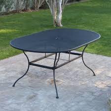 black iron outdoor furniture. Amazon.com : Belham Living Stanton 42 X 72 In. Oval Wrought Iron Patio Dining Table By Woodard - Textured Black Garden \u0026 Outdoor Furniture T